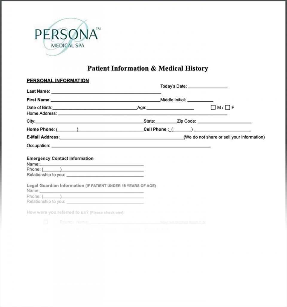 , New Patient Form